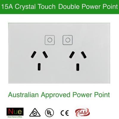 AU/NZ Crystal Glass Twin Socket