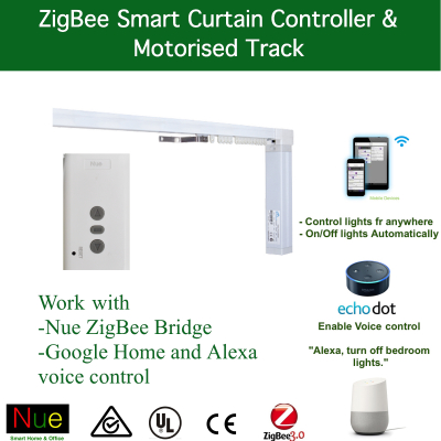 Smart Motorised Curtain Track and ZigBee Controller