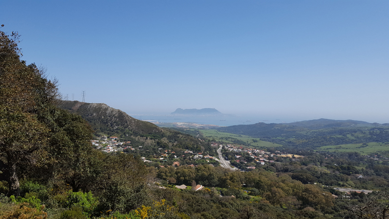 The Rock of Gibraltar centered in the background