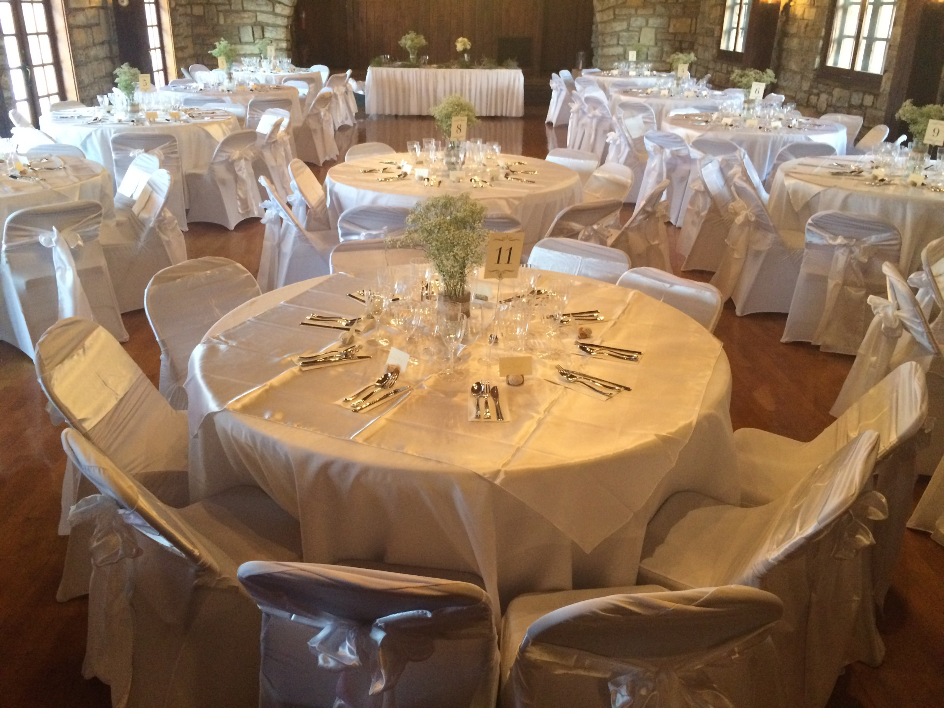 White Wedding Linens