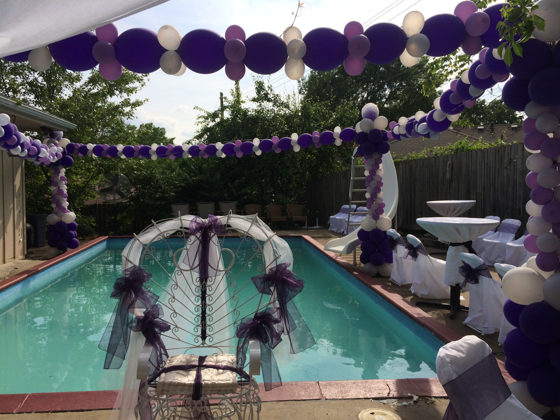 Pool Balloon Decor