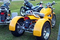 Converted chopper into a trike using a custom trike conversion kit