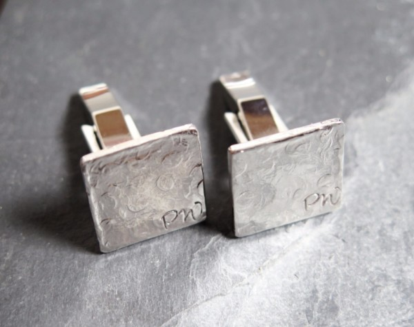 make your own bestman gifts silver cufflinks personalised initials