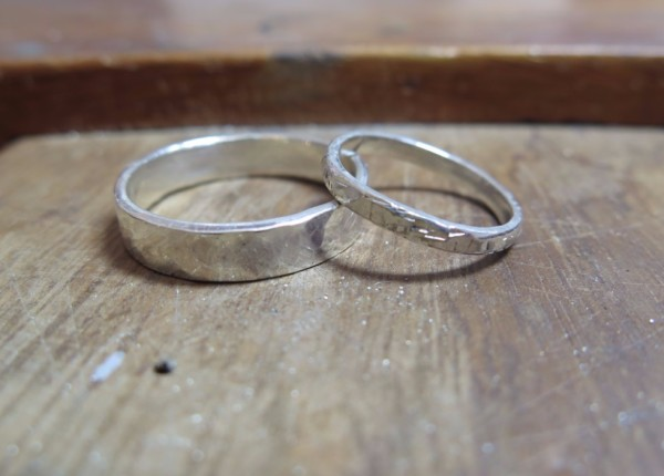 Make your own silver wedding rings