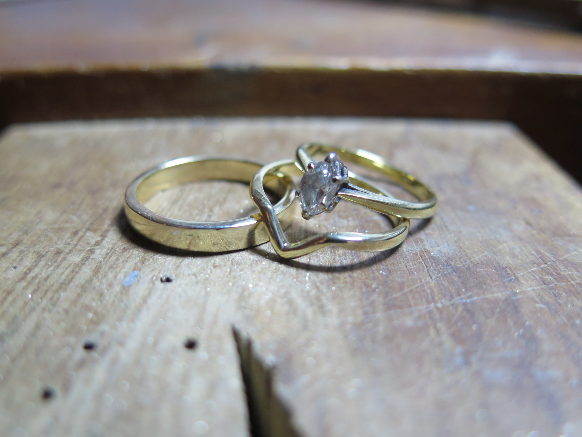 make your own 18ct Gold wedding rings
