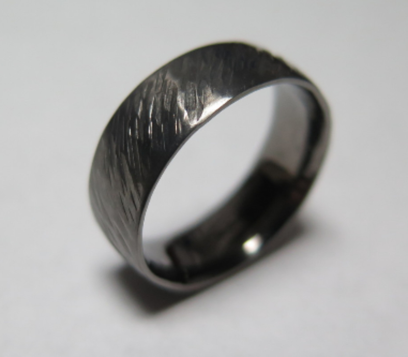 black rhodium, white gold, textured wedding ring, bespoke wedding ring, wedding ring
