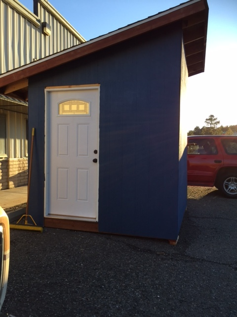 "Tiny ""Safe Sleeper"" Cottage donated to CCJ in Prescott, AZ."