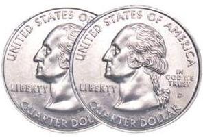 Two Headed Quarter