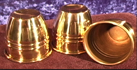 Stage Brass Cups and Balls