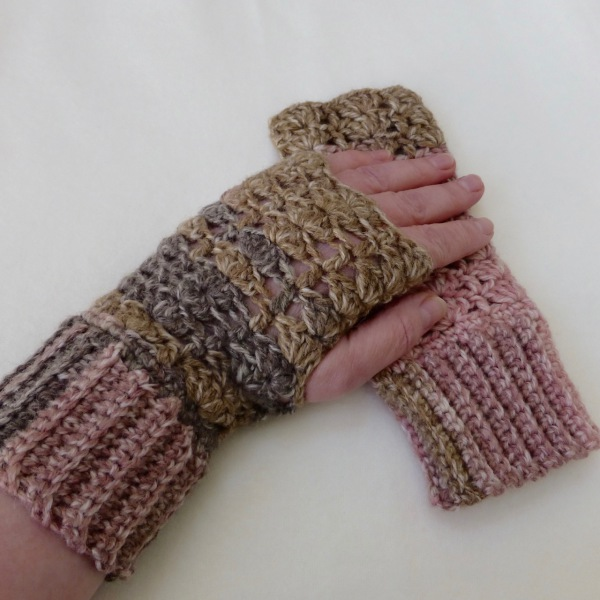crochet hats and gloves