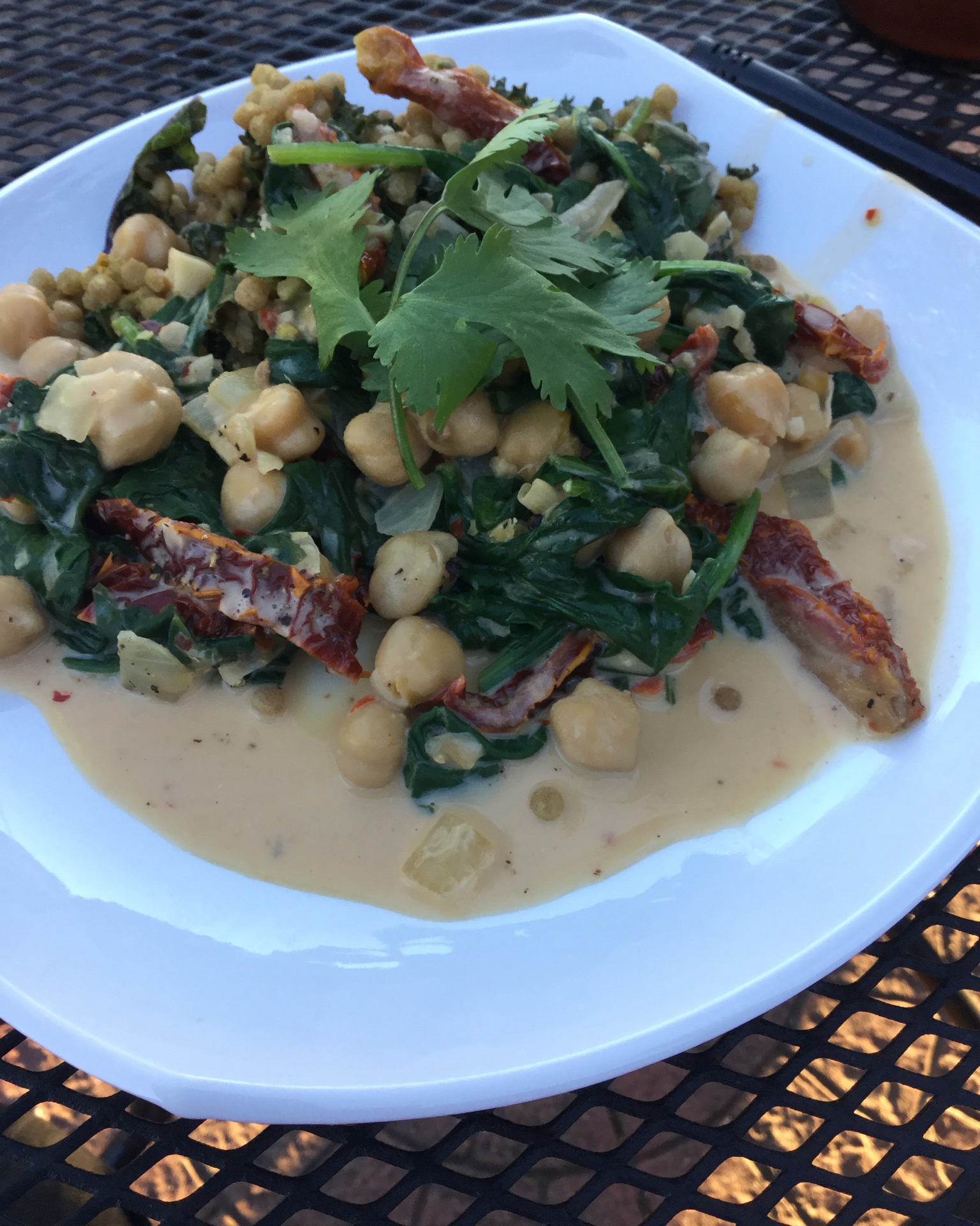 Coconut Braised Chickpeas