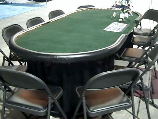 10 player PLUS dealer positions are the largest hold'em tables available in Utah.