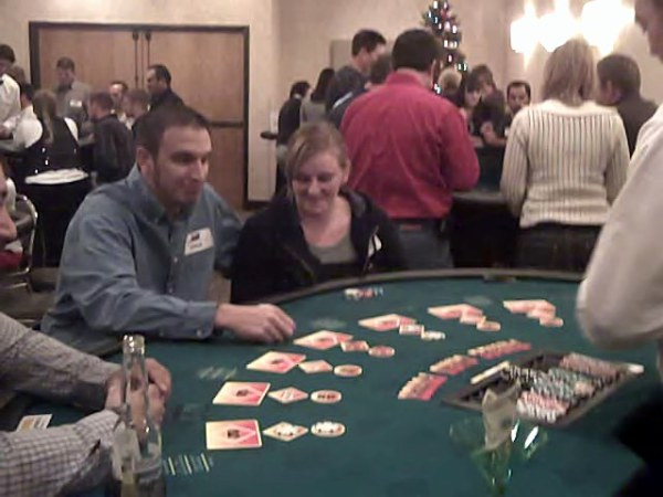 Three Card Poker is also popular at our parties.
