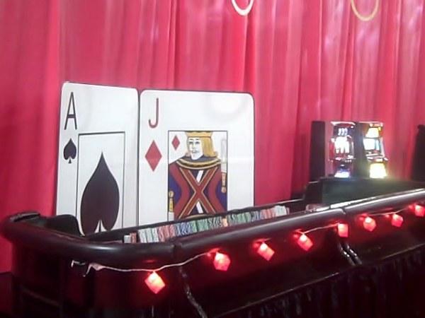 Casino sized craps tables