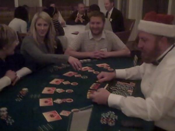 Three Card Poker table.