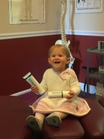 Little Alexandria holding Biofreeze Tubes