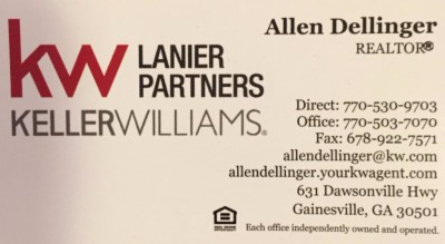 Allen Dellinger's business card