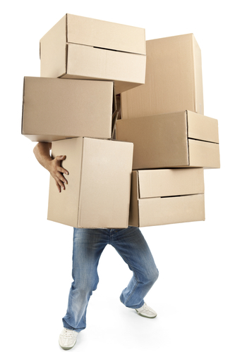 Man with Moving Boxes
