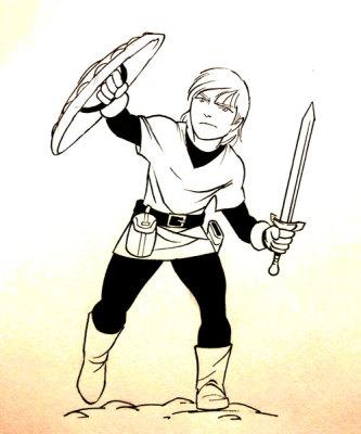 Hero Blocking with Shield Concept Art - Jason Fowler