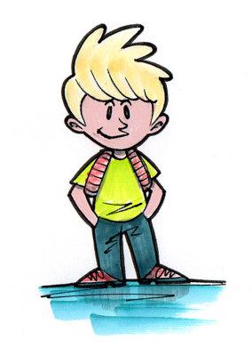 Cartoon Concept Art for an Adventure Game