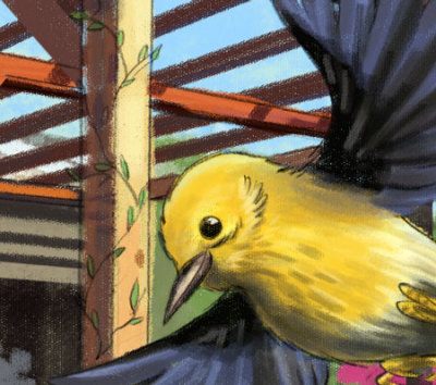 Preview Illustration of a Bird and Trellis - Jason Fowler