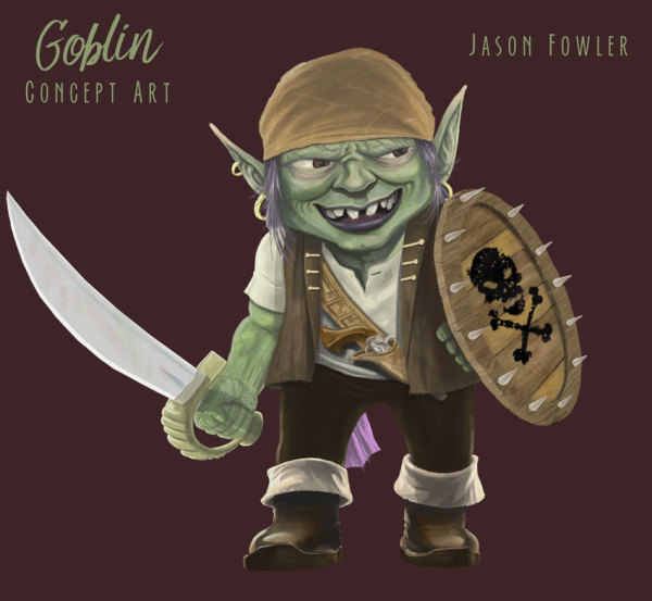 Goblin Warrior Concept Art by Jason Fowler