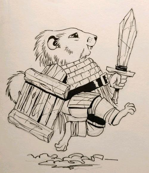 Sketching - Groundhog Knight