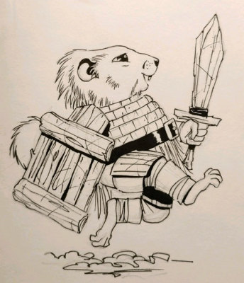 Sketching - Groundhog Knight