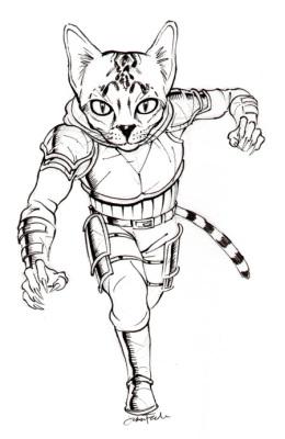 Sketching a Cat Man