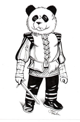 Sketch of a Noble Panda by Jason Fowler