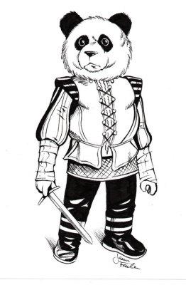 Sketch of a Noble Panda by Jason Fowler