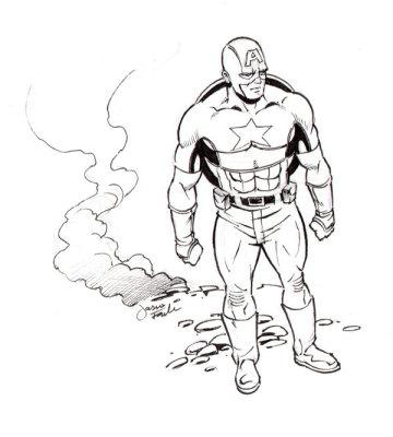 Sketch of Captain America