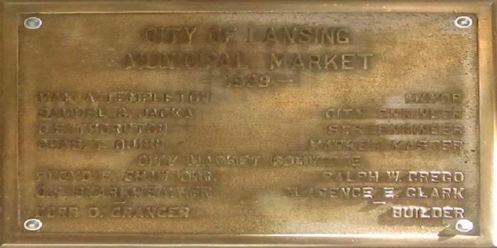 City Market Dedication Plaque