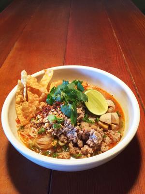 Tom Yum Moo Ma-nao Noodle Soup