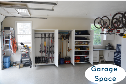Organized Garage Space