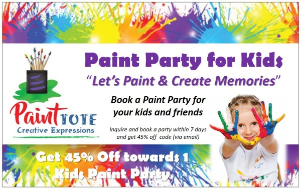 Book a Paint Party for Kids