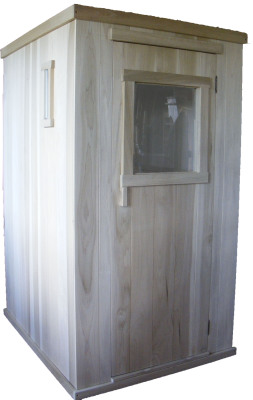 The outside of the sauna