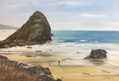 Harris Beach-Walking the Dog