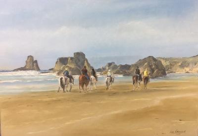 Bandon Beach Ride (pastel)