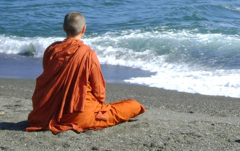 Meditation at Jenner Beach
