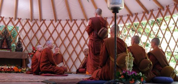 ordination in Aranya Bodhi Hermitage