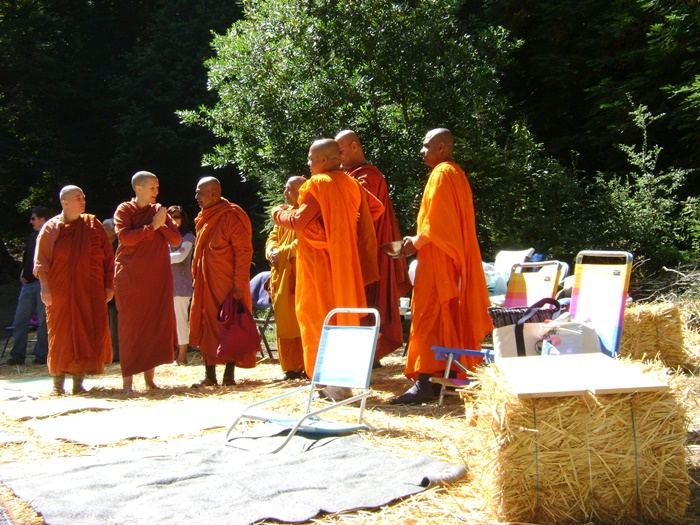 Bhikkhus and Bhikkhunis at ordination
