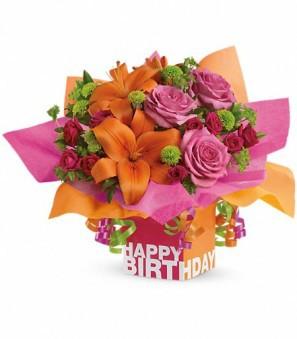 Chic-Spring Birthday Arrangement