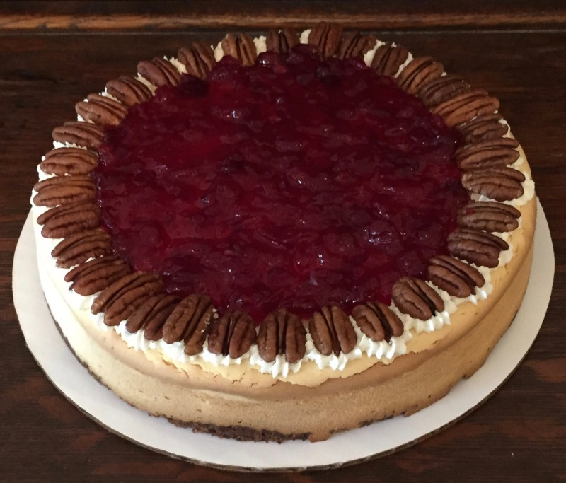 Cranberry Orange Pecan Cheesecake