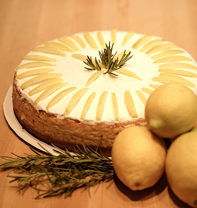 Lemon Rosemary Cheesecake