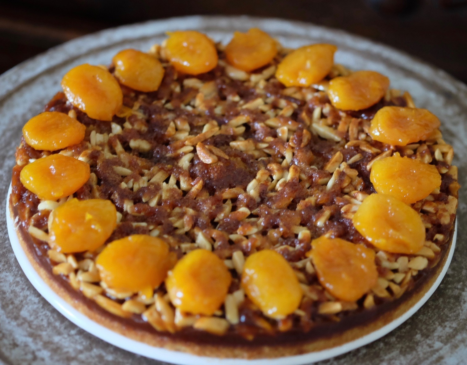 Apricot, Honey, and Almond Coffee Cake