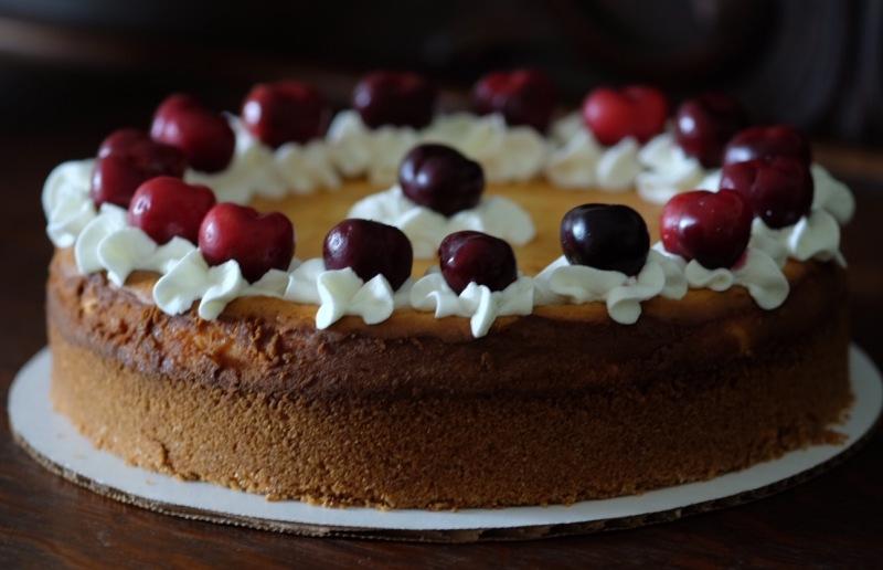 Brandied Cherry Cheesecake