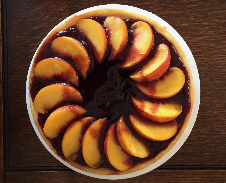 Raspberry Peach Cheesecake
