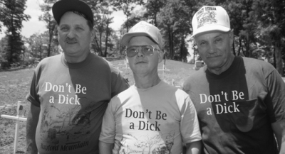 Guy with 'Don't Be a Dick' t-shirt is being a total dick