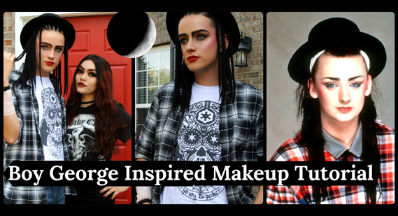 Boy George inspired makeup tutorial